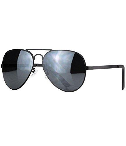 caripe Pilotenbrille Sonnenbrille Premium Qualität unisex - pr22 (Modell 1 - schwarz - schwarz getönt)