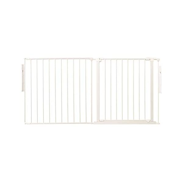 Safetots Room Divider White Up to 144cm Safetots Screw fitted room divider Can also be configured into a playpen or hearth gate Additional Gate Opening Panels available 1