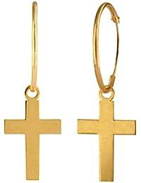 24b3806f1794 Amazon.es  pendientes cruz - Oro amarillo  Joyería
