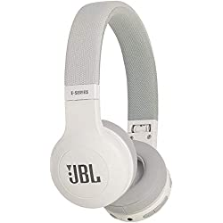 JBL E45BT – Casque audio supra-auriculaire – Polyvalent et confortable – Écouteurs Bluetooth pliables avec câble détachable – Autonomie jusqu'à 16 hrs – Blanc