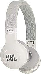 JBL E45BT On-Ear Bluetooth Kopfhörer - Headphones mit Textil-Kopfbügel und abnehmbarem Klinkenstecker Kabel - Bis zu 16 Stunden Akkulaufzeit Weiß
