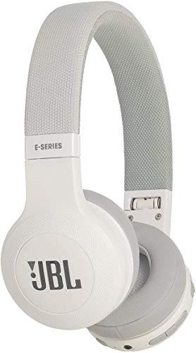 JBL E45BT On-Ear Bluetooth Kopfhörer in Weiß - Headphones mit Textil-Kopfbügel und abnehmbarem Klinkenstecker Kabel - Bis zu 16 Stunden Akkulaufzeit