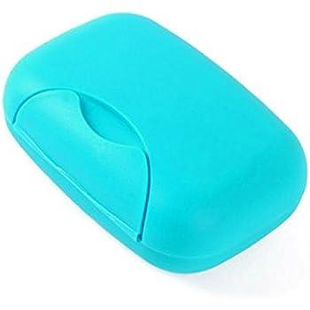 SUMAJU 2 Pieces Plastic Soap Dish,Blue Shower Soap Box Soap Saver Case Holder