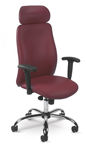 Dreams4Home Drehstuhl \'Jupiter I\', Bürostuhl, Schreibtischstuhl, Chefdrehsessel, Chefsessel, Arbeitsdrehstuhl, Stuhl,rot