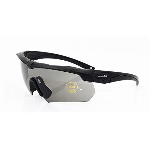 Sportbrille Raptor/Dorical Unisex Polarisierte Sonnenbrillen Fahrradbrille Radbrille für Radsport Fahrrad Baseball Skifahren Sport Brille mit Wechselobjektiven unzerbrechlichem Rahmen(Schwarz)