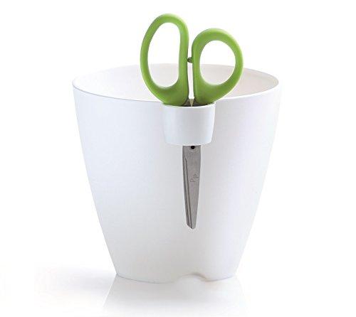Prosper Plast Dlu150-s449 15 x 16 cm Citron Vert Uno Pot de Fleurs - Blanc