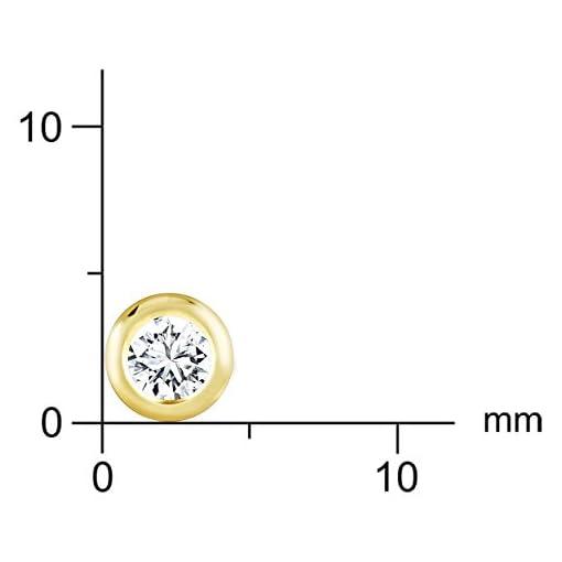 Diamond Line Damen - Ohrstecker 585er Gold 2 Diamanten