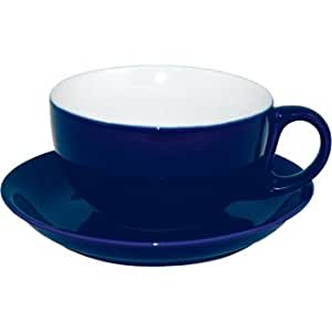 Coloured porcelain crockery set cappuccino cup and saucer blue 10oz box 12 funky and - Funky espresso cups ...