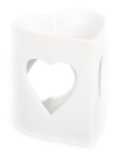 Ceramic-White-Heart-Fragrance-Oil-Burner-Heart-Incense-Burner