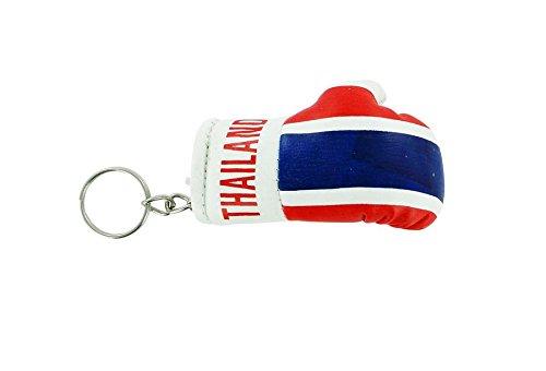 """Preisvergleich Produktbild Schlüsselanhänger Schlüsselanhänger-Flagge Thailand. thai """"Boxhandschuhe-Flagge"""