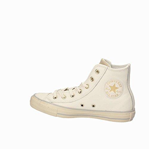 Scarpa Converse Ct As Hi Cuero Curvo Eyestay Mainapps Bianco-oro