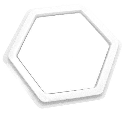 EDUPLAY 22007014x 14cm Sechseck Blanko Stempelkissen (Schaumstoff Stempelkissen)