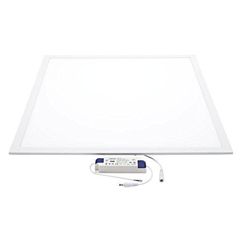 Biard Plafonnier LED - Dalle Lumineuse 60x60cm - Cadre Blanc - Panneau Basse Consommation 40W - Blanc Naturel