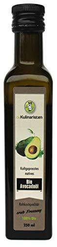 Bio Avocadoöl in Rohkostqualität, kaltgepresst, erste Pressung 250ml