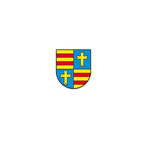 Copytec Aufkleber/Sticker -Freistaat Oldenburg Großherzogtum Niedersachsen Weimarer Republik Deutschland Parlamentarische Demokratie Wappen 6x7cm #A3160