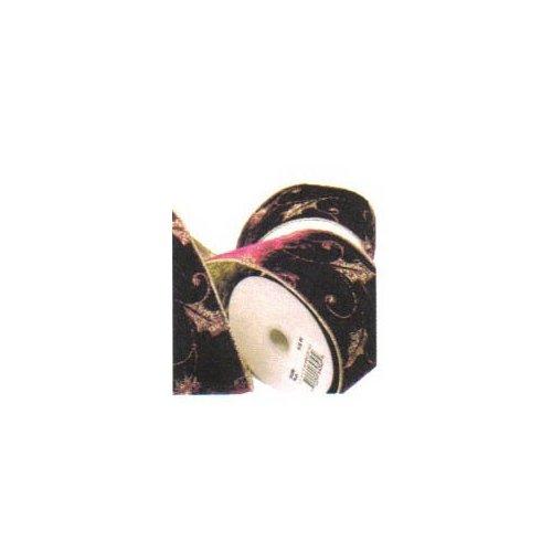 Renaissance 2000 bestickt Samt Band, 6,3cm von 5YD, burgund