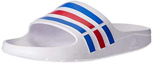 Adidas Duramo Slide, Ciabatte da Unisex Adulto, Bianco (White/True Blue/Red), 46 EU (11 UK)