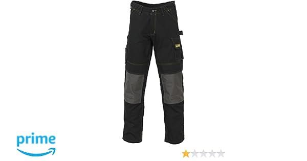 30W x 35L D-WD-Black-30 JCB nero Pantaloni da lavoro da uomo