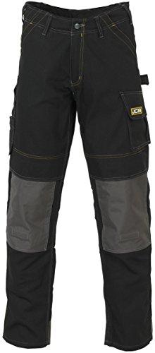 JCB - Pantaloni da lavoro da uomo, nero, 30W x 35L