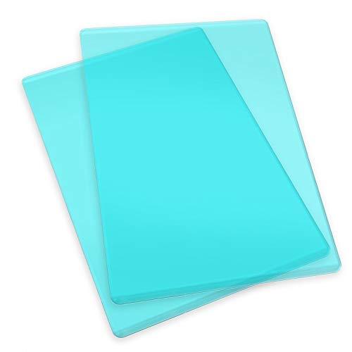 Sizzix Big Shot Plus Accessori Cutting Pads, Standard, 1 Paio, Acciaio Inossidabile, Trasparente/Menta