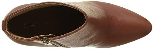 Calvin Klein Sandria Polished Calf, Bottines Pour Femme Marron (bdy)