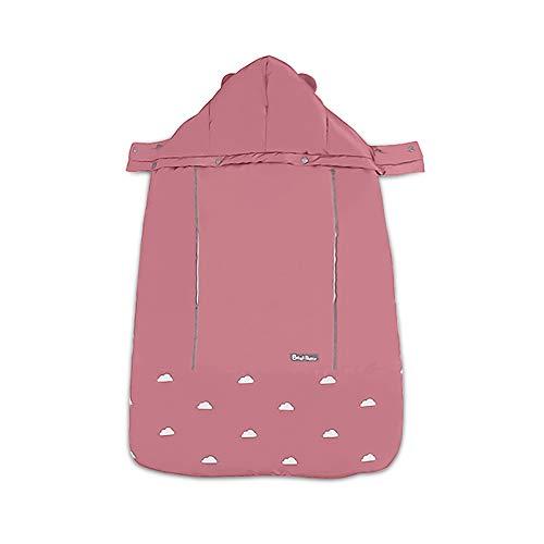 Imagen para SONARIN Universal All Seasons Cobertor para portabebés,Capa para el invierno,Prueba de viento,Impermeable,Sombrero Desmontable(Rosado)