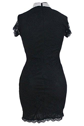 shelovesclothing - Robe - Femme bleu bleu 36-38 Noir