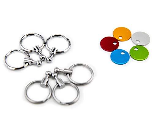 Troika Zubehör Patent Schlüsselhalter - enthält 6 ausklinkbare Ringe zur Schlüsselorganisation und Farbplättchen