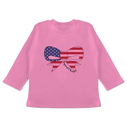 by - America Schleife - 12-18 Monate - Pink - BZ11 - Baby T-Shirt Langarm ()