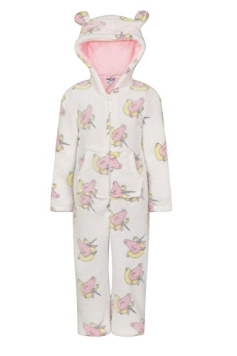 Nifty Kids Unicorn Print Hooded All In One Or Robe With 3D Ears