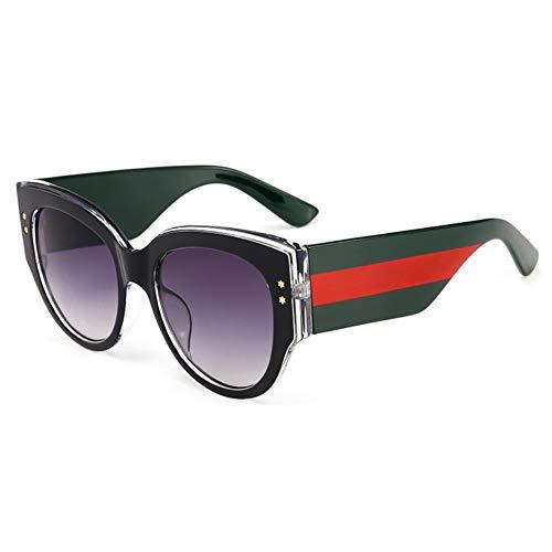 XiaoGaO Runde Gestreifte Sonnenbrille Anti-uv-Outdoor-Strand Unisex-Brillen,E