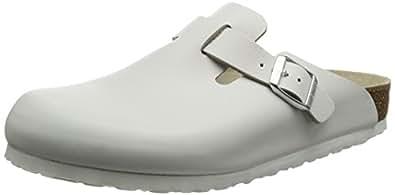 Birkenstock Classic Boston Leder Unisex-Erwachsene Clogs, Weiß, 35