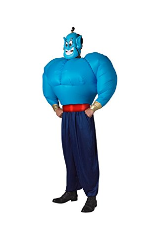 Rubie's, costume originale del Genio di Aladdin per adulto, gonfiabile, taglia unica, colore blu/nero