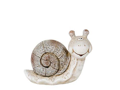 meindekoartikel Deko-Figur Schnecke aus Keramik - Braun (B23xT11xH15cm)
