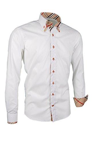 Camicia da uomo premium i giorgio capone i 100% cotone, slim/normal fit e regular-plus fit (l slim)