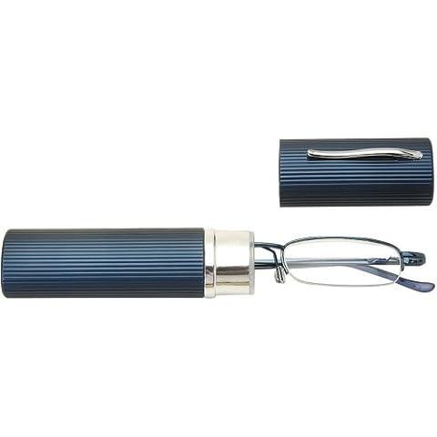 Sunoptic OR10B 02:50 gafas de lectura con lentes intercambiables en color azul - almidón 02:50 Incluyendo