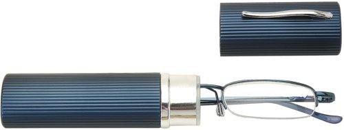 Sunoptic OR10B+2.50 Lesebrille mit austauschbaren Gläsern in blau - Stärke +2.50 Inklusive Hülsenetui, 1er Pack (1 x 1 Stück)