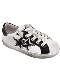 2 Stars Sneaker Bassa Bianca con Stella Nera 0631ce09c13