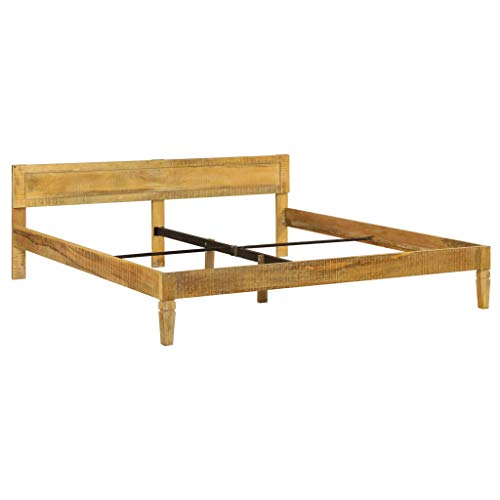 vidaXL Mangoholz Massiv Bettgestell 180cm Holzbett Doppelbett Bettrahmen Bett