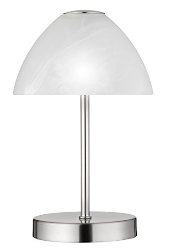 Reality Leuchten R52021107 Queen A+, LED Tischleuchte, 2.5 Watt, Integriert, Nickel matt, 4-fach Touch Dimmer, 15 x 15 x 24 cm