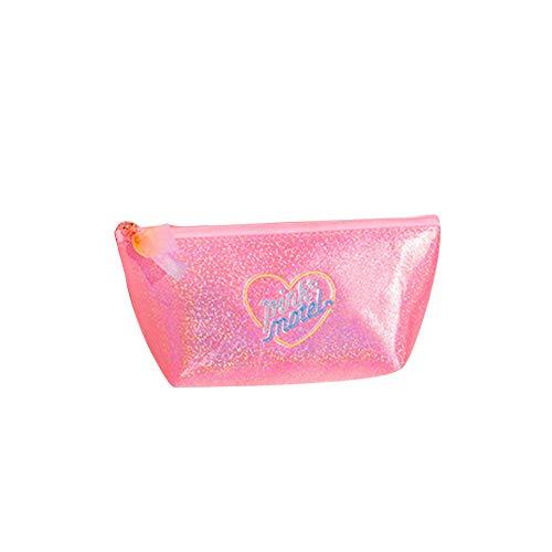 -Kasten Pailletten Zipper Aufbewahrung Container Für Studenten Kosmetik-Beutel-Spielraum Tragbare Tasche Rosa 1PC ()