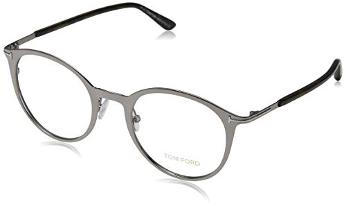 Tom Ford Unisex-Erwachsene Brille FT5465 014 50 Brillengestelle, Gunmetal, 55 (Tom Ford Brille Runde)