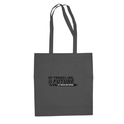 Planet Nerd BTTF: Regular Speed - Stofftasche/Beutel, Farbe: grau