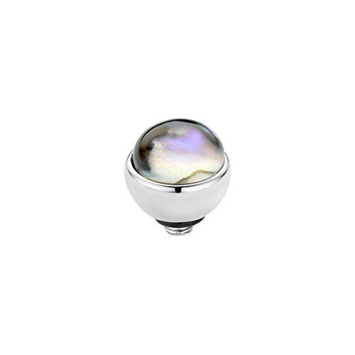 MelanO Twisted zum draufschrauben Aufsatz/Fassung 7 mm Edelstahl mit Stein in Farbe abalone M01SR 5036