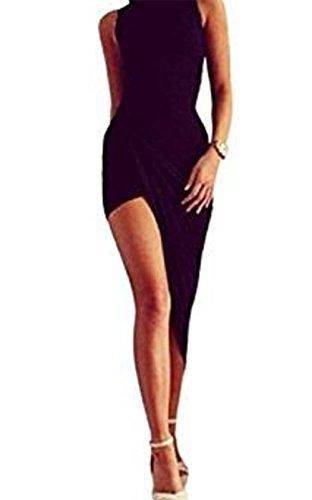 Damen Kleider, GJKK Damen Sommerkleid Elegant Midikleid Reizvoller Ärmellos Rundausschnitt Verband...