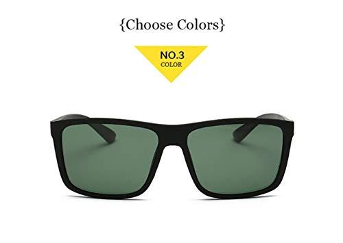 HUOYAN Männer Polarisierte Sonnenbrille Mens Vintage Driving Movement Sonnenbrille Männer Fahrersicherheit Schützen UV400 Brillen (Frame Color : Multi, Lenses Color : NO 3)