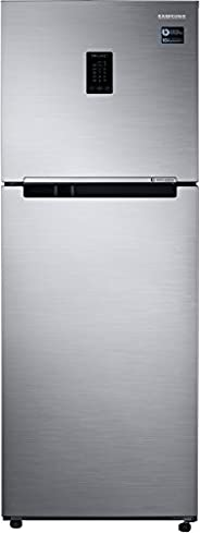 Samsung 324 L 2 Star Inverter Frost Free Double Door Refrigerator(RT34M5538S8/HL, Elegant Inox, Convertible)