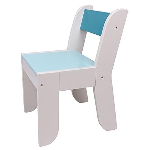 Chaise Labebe pour enfants - Couleur bleu foncé pour les enfants de 1 à 5 ans, bois massif, Utilisation pour la peinture / Lecture / Groupe de jeu dans la salle de classe et à la maison, Ensemble de table à épices vertes, cadeau d'anniversaire créatif