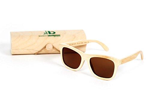 Gafa de sol bambú. Marrón claro.
