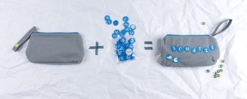 Kjomizo Dottybag Sac à langer/trousse de toilette avec ronds décoratifs Velcro de la même couleur que celle de la fermeture Éclair Gris